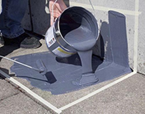 Flüssigabdichtung Gomastit Aqua Protect Flex liquid, grau, Dose   Anwendungsbeispiel