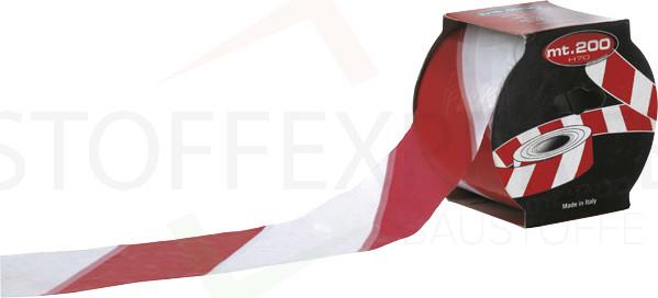 Sicherheits-Absperrband, rot/weiß, 70mm x 200m, 40my