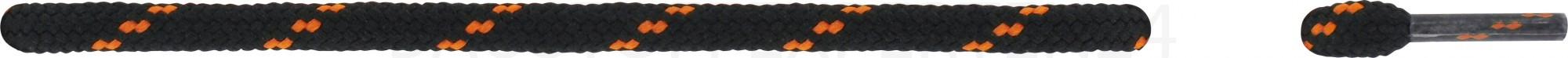 Schnürsenkel, schwarz/orange, rund, extra dick