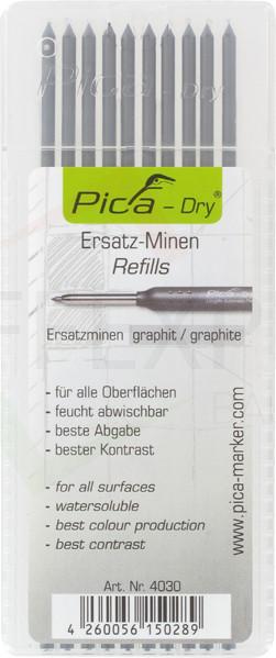 Pica-Marker - Pica-Dry - 10 Graphit Ersatzminen 4030