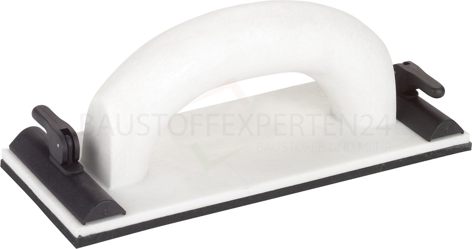 Handschleifer mit Klappverschluss, Moosgummi-Belag, 9 x 24cm, Triuso Premiumline