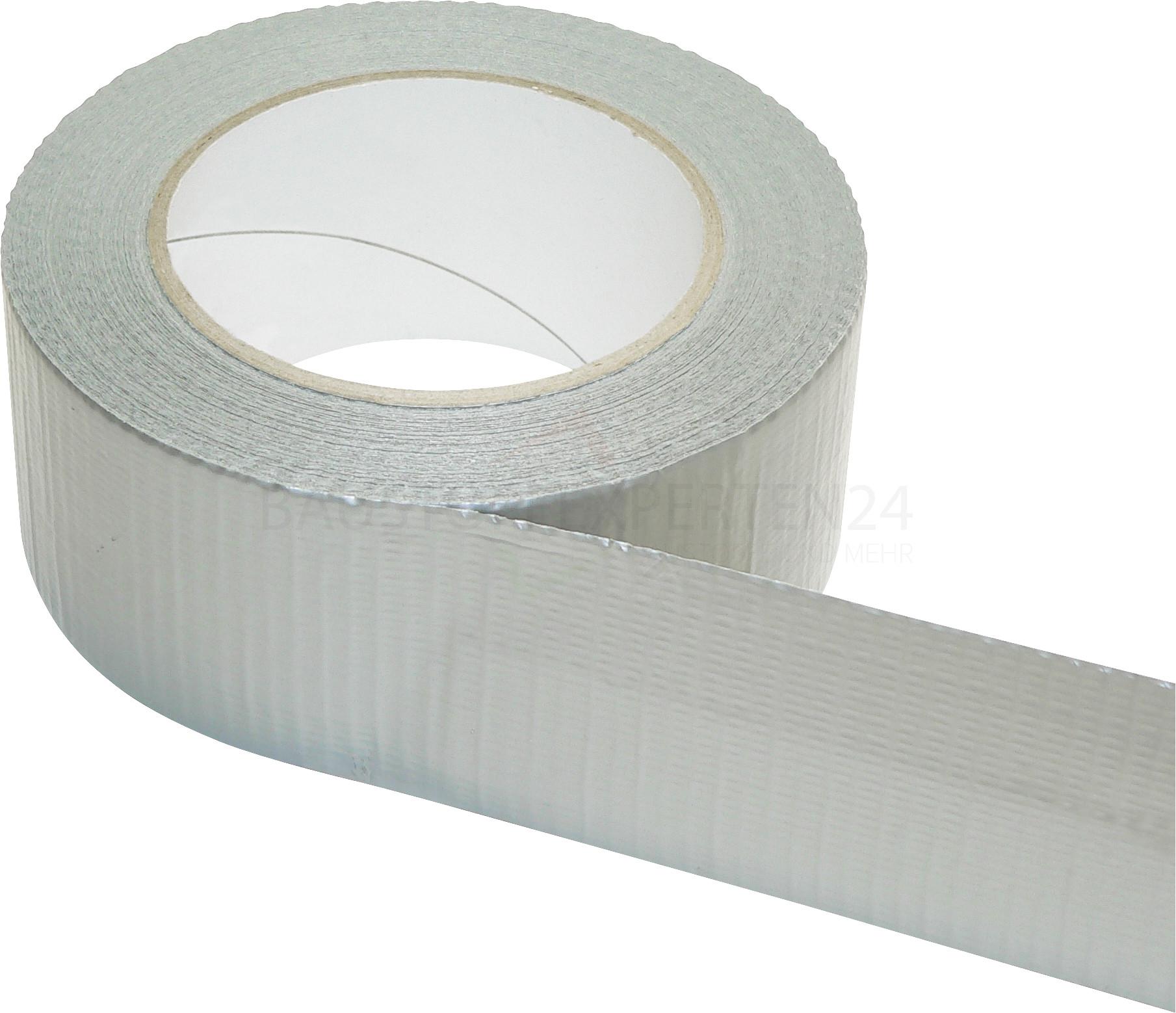 Gewebeklebeband, silber, 50mm x 50m