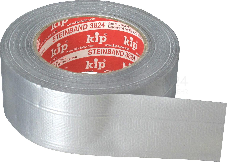 kip - Steinband 3824, Gewebe, silber, 50mm x 50m