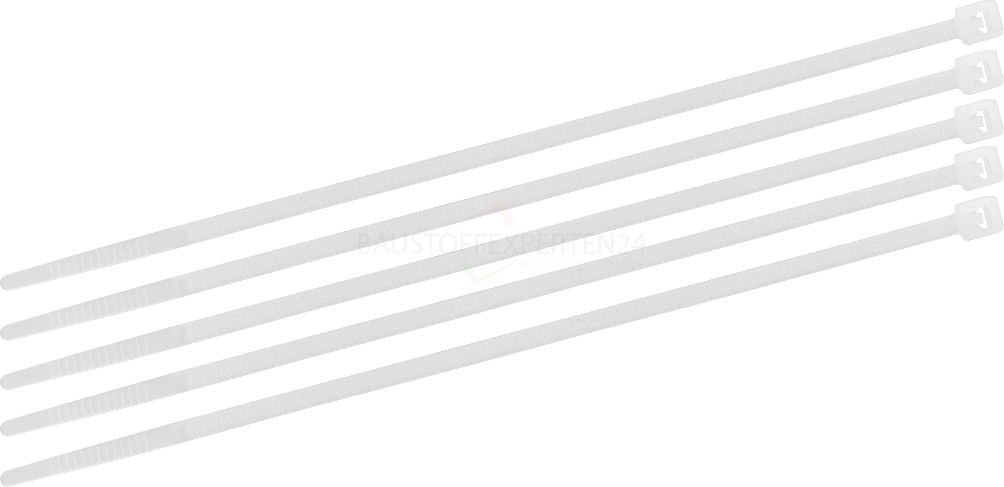 Kabelbinder transparent, 300 x 4,6mm, 100 Stück