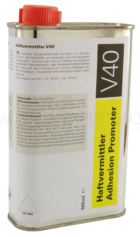 Primer / Haftvermittler V40 (Spezialhaftvermittler) für saugende und nichtsaugende Untergründe, 500ml