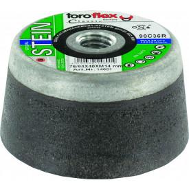 Schleiftopf für Beton, Granit und Gestein, 76/64 x 40mm, Typ C 36 R