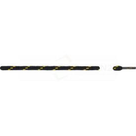 Schnürsenkel, schwarz/gelb, rund, extra dick
