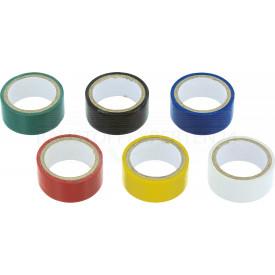 Isolierband, 19mm x 2,5m, 6-teilig, farbig sortiert