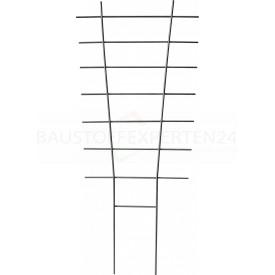 Windhager Rankgitter für Topfpflanzen, Metall, grau, 77 x 34cm