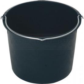 Baueimer 12l mit Bügel, schwarz