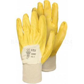 Baumwoll-Handschuh mit Nitril, EAN-Auszeichnung, EAN-Auszeichnung, Größe 10