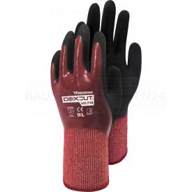 Wonder Grip DEXCUT 718 Schnittschutzhandschuh, im Polybeutel, Stufe 5, weinrot