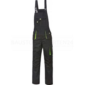Arbeits-Latzhose Power-Kids schwarz / grün, Bild 1