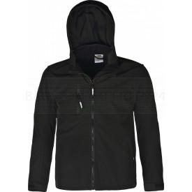 Softshell-Jacke Power, atmungsaktiv, wind- und wasserabweisend, schwarz