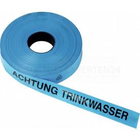 Trassenwarnband, TRINKWASSER, 250m x 40mm