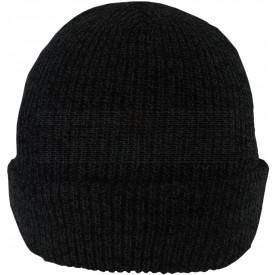 Strick-Beanie schwarz, Bild 1