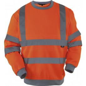 Sweatshirt, Warnschutz, leuchtorange