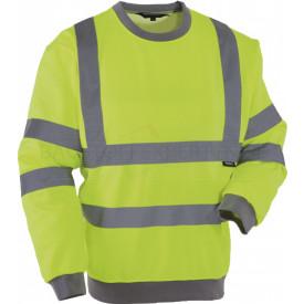 Sweatshirt, Warnschutz, leuchtgelb