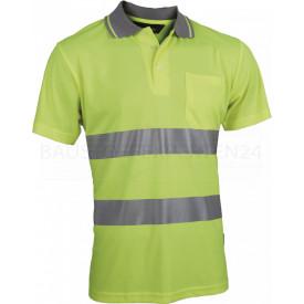 Coolpass-Poloshirt, Warnschutz, leuchtgelb
