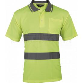 Poloshirt, Warnschutz, leuchtgelb