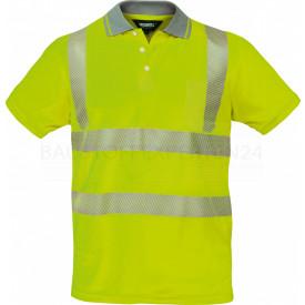 Coolpass-Poloshirt, Warnschutz, leuchtgelb, 3M-Reflektoren