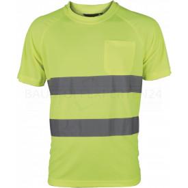 Coolpass-T-Shirt, Warnschutz, leuchtgelb