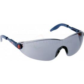 3M 2741 Komfort-Schutzbrille mit Anti-Scratch und Anti-Fog, grau getönt