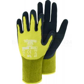 Handschuhe Wonder Grip - Comfort 310 mit Latex, leuchtgelb-schwarz